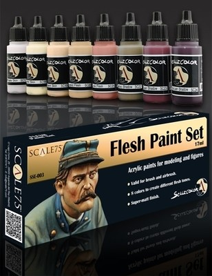 Flesh Paint Set - Haut Farbset - Scale75