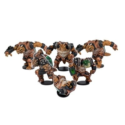 DreadBall Ukomo Avalanchers Teraton Team Booster (6 Figuren)