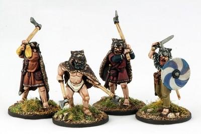 Berserkers (4) Hearthguard 1 pt - SAGA - Wikinger
