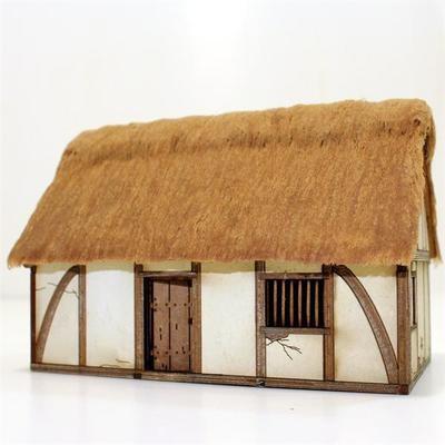 Saxon/Medieval Dwelling - Wohnhaus bemalt - 4Ground