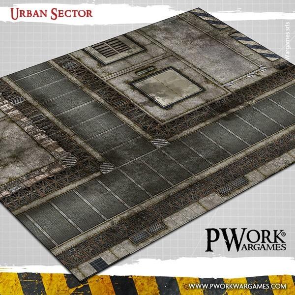 "Urban Sector - Wargames Terrain Mat PVC Vinyl - 22x33""(Kill Team) - PWork Wargames 22x33-pwork-urban"