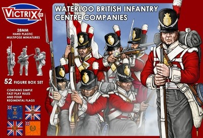 Waterloo British Infantry Centre Companies - Victrix