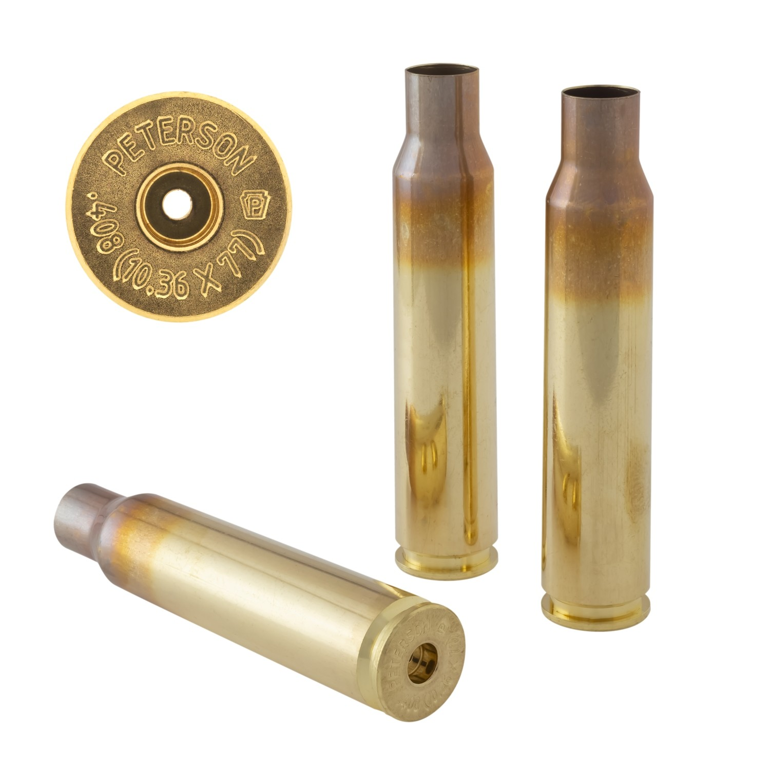 Peterson 10.36 x 77 (.408 CheyTac®) Select - Box of 50 Brass Rifle Casings