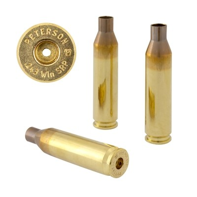 Peterson .243 Win SRP Select - Box of 50 Brass Rifle Casings
