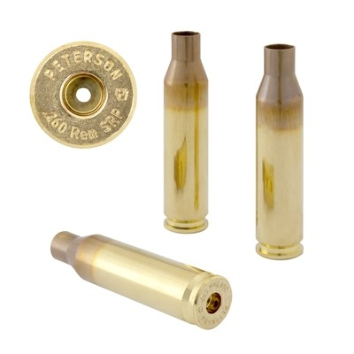 Peterson .260 Rem SRP Select - Box of 50 Brass Rifle Casings