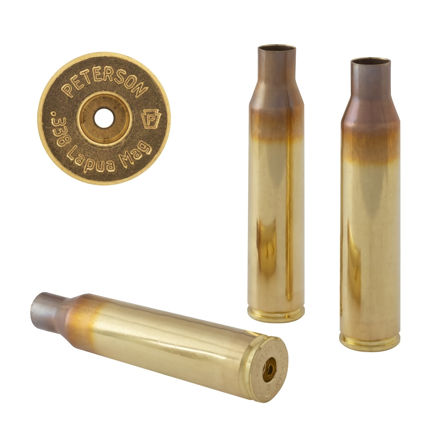 Peterson .338 Lapua Mag Select - Box of 50 Brass Rifle Casings