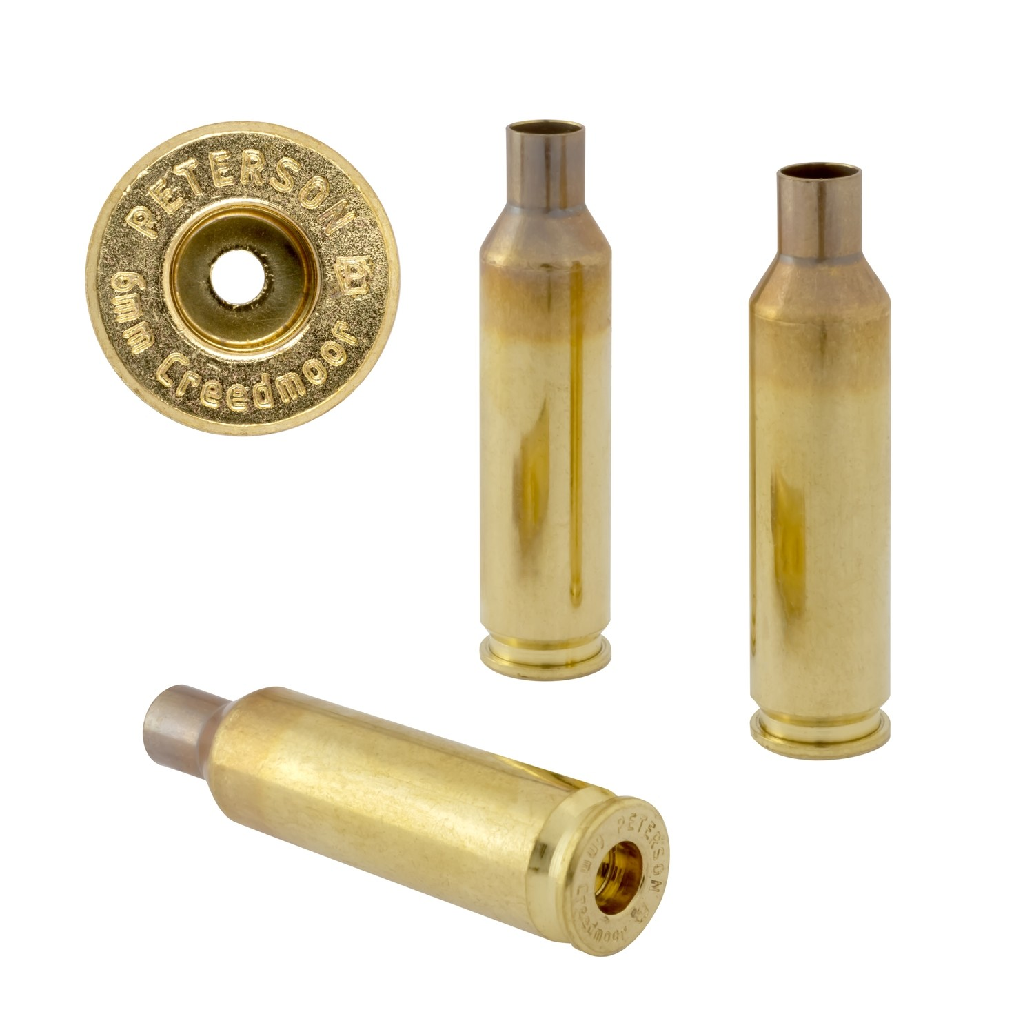 Peterson 6mm Creedmoor Select - Box of 50 Brass Rifle Casings