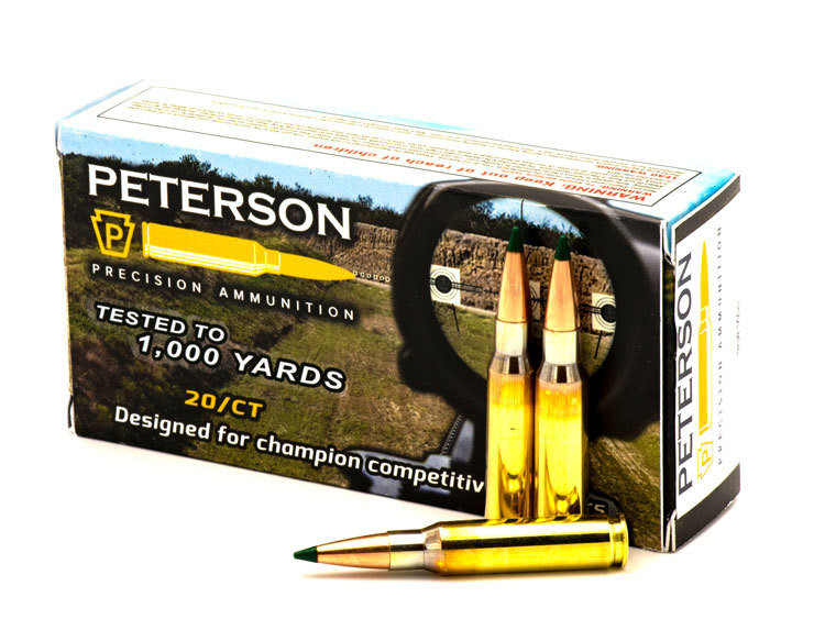 Peterson .308 Win Match 168gr Sierra Matchking Tipped - Box of 20