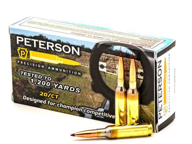 Peterson 6.5 Creedmoor 142gr Sierra MatchKing - Box of 20