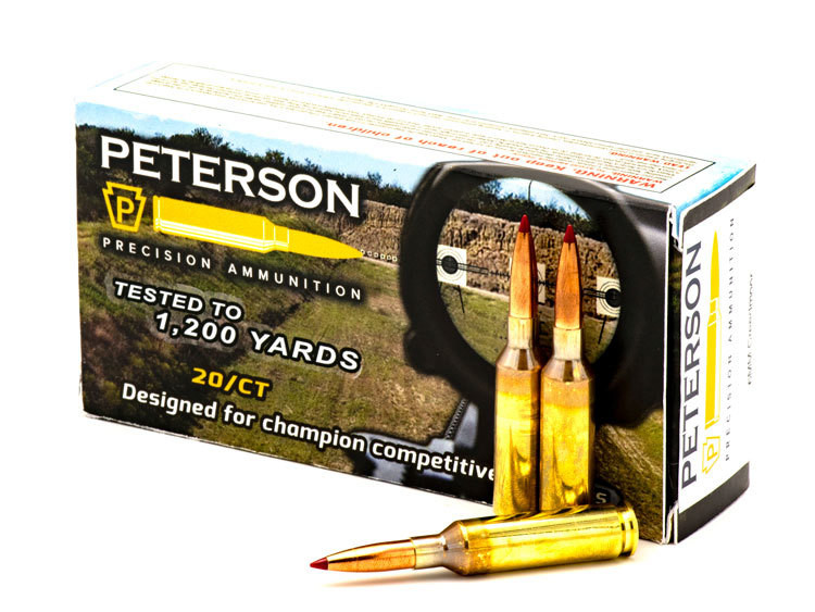 Peterson 6mm Creedmoor 108gr Hornady ELDM - Box of 20