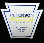 Peterson Cartridge Sticker
