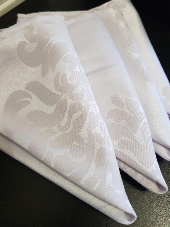 Servet 40x40 cm, damasc alb
