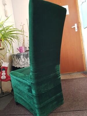 Huse catifea elastica verde inchis