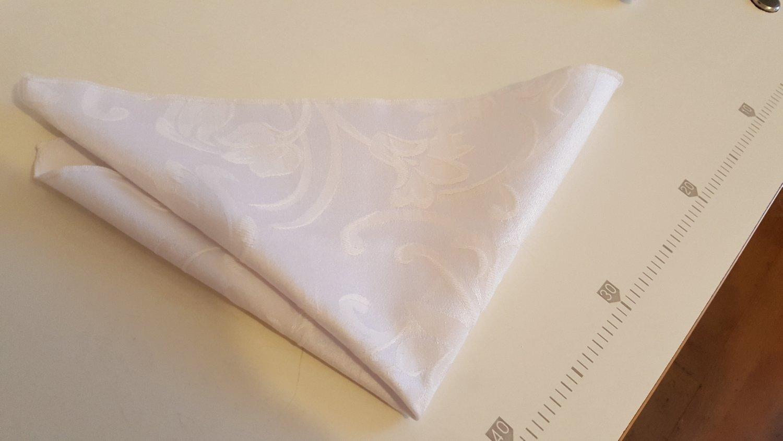 Servet 35x35 cm  - alb