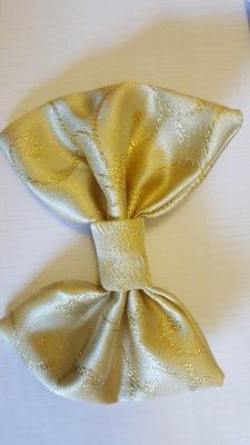 Papion brocart crem&auriu
