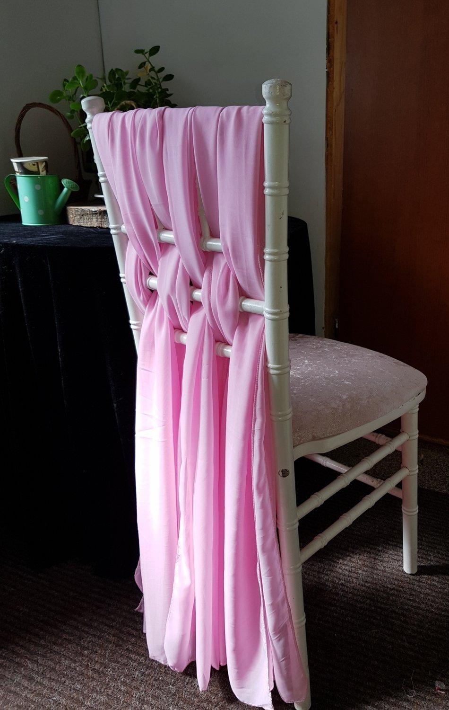 Esarfe 30x180cm voal roz