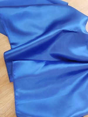 Esarfa 35x200 cm satin albastru