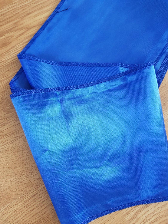 Esarfa 15x150 cm satin albastru