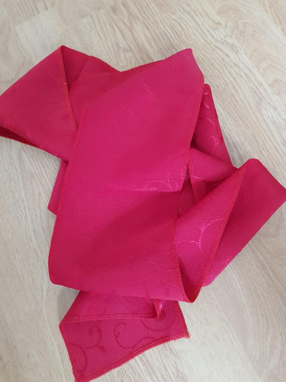 Esarfa 12x200 cm brocart rosu carmin