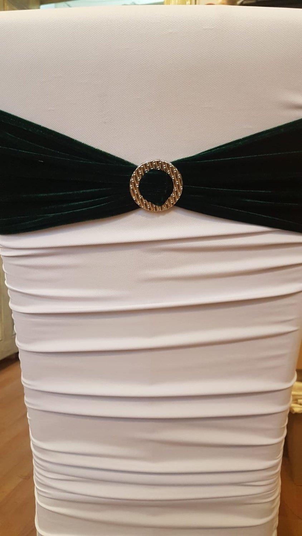 Esarfa catifea verde inchis