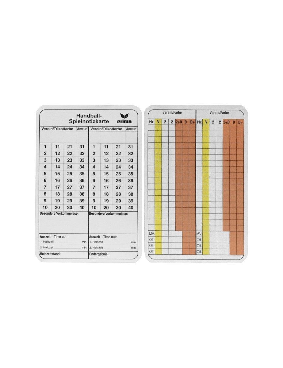 Spielnotizkarten Handball 724502