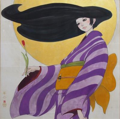 "Souske Onoike - ""Natsutukiyo"" Summer moonlit night"