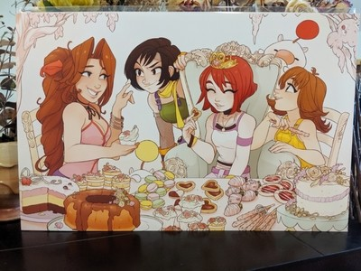 11x17 Print: Kingdom Hearts Pastry Party