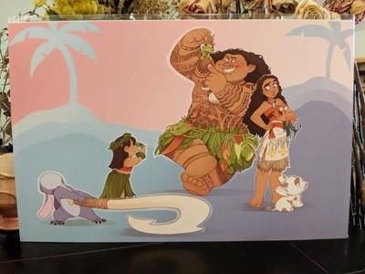 11x17 Print: Moana Meets Lilo and Stitch