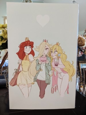 11x17 Print: Princess Trio- Girls Day Out