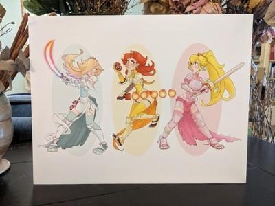 8x11 Print: Princess Trio- Warriors