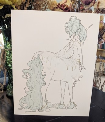 8x11 Print: Teal Centaur