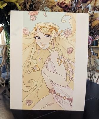 8x11 Print: Zelda