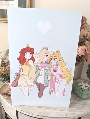 Mario Princess Trio (11x17)