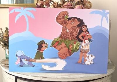 Moana Meets Lilo and Stitch (11x17)