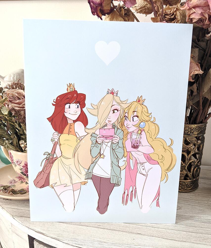 Mario Princess Trio (8.5x11)