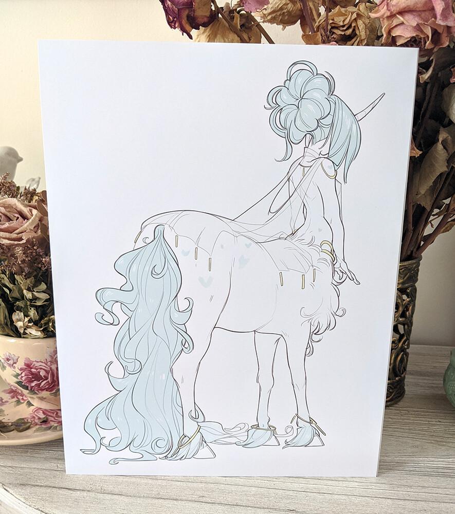 Teal Centaur (8.5x11)