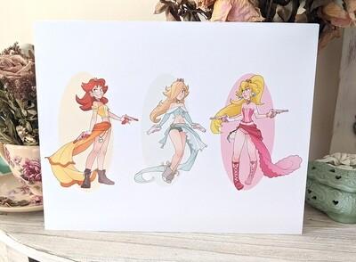 Mario Princess Gunners (8.5x11)