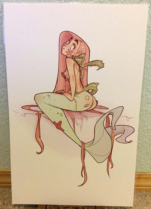 11x17 Print: Pastel Mermaid