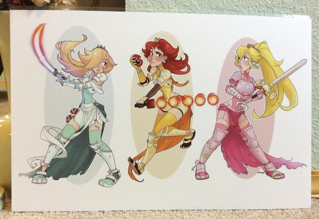 11x17 Princess Trio- Warriors