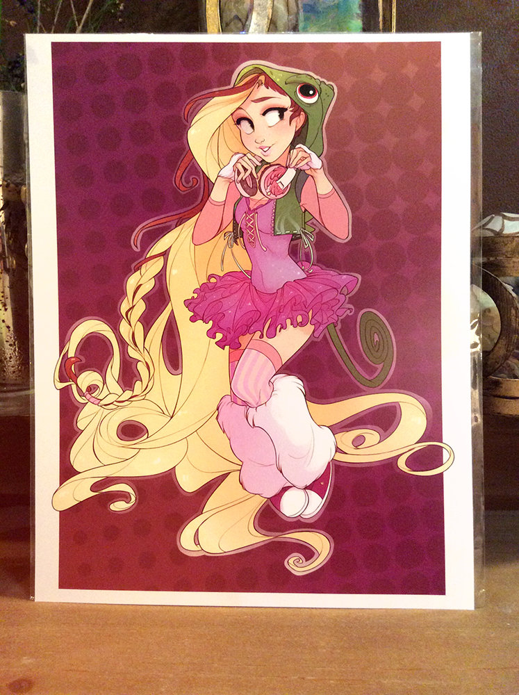 8x11 Print: Raver Rapunzel
