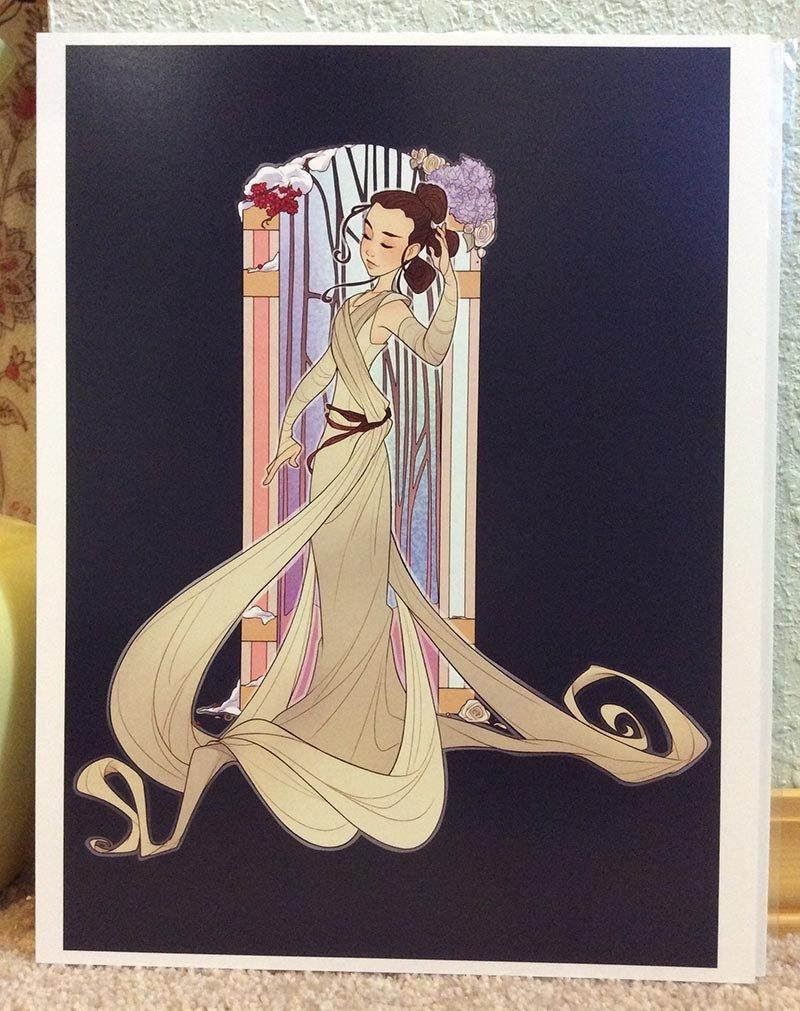 8x11 Print: Rey