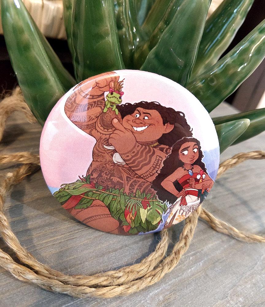 Button:  Moana and Maui