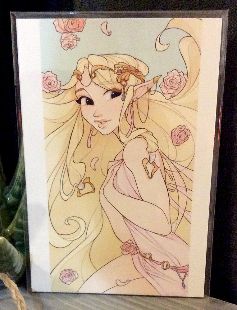 4x6 Print: Zelda