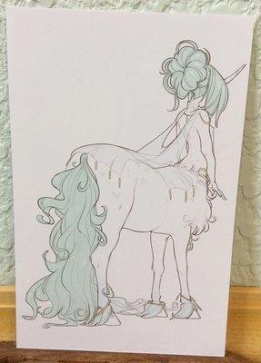 4x6 Print: Teal Centaur