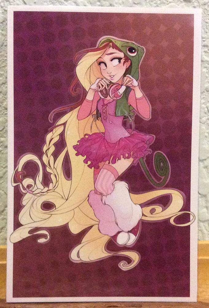 4x6 Print: Raver Rapunzel