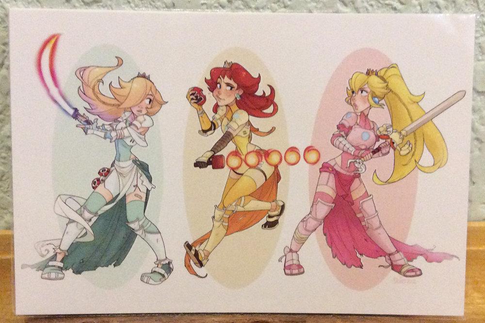4x6 Print: Princess Trio Warriors
