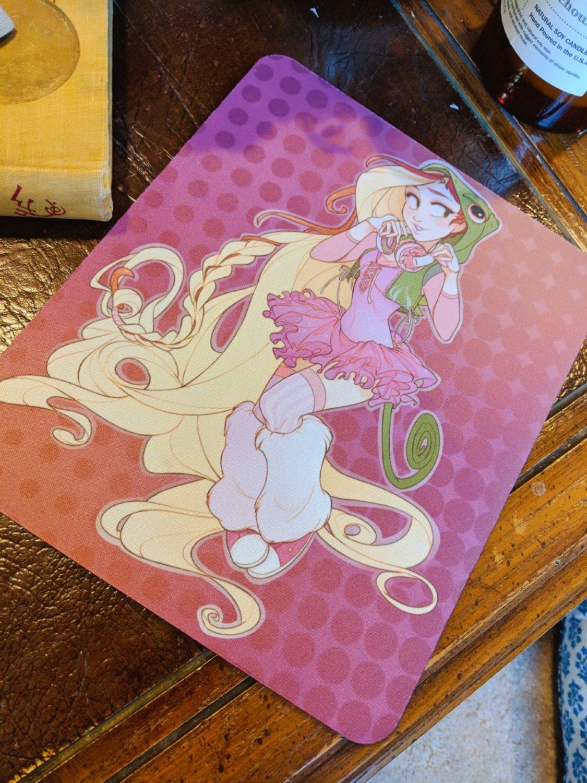 Mouse Pad: Raver Rapunzel