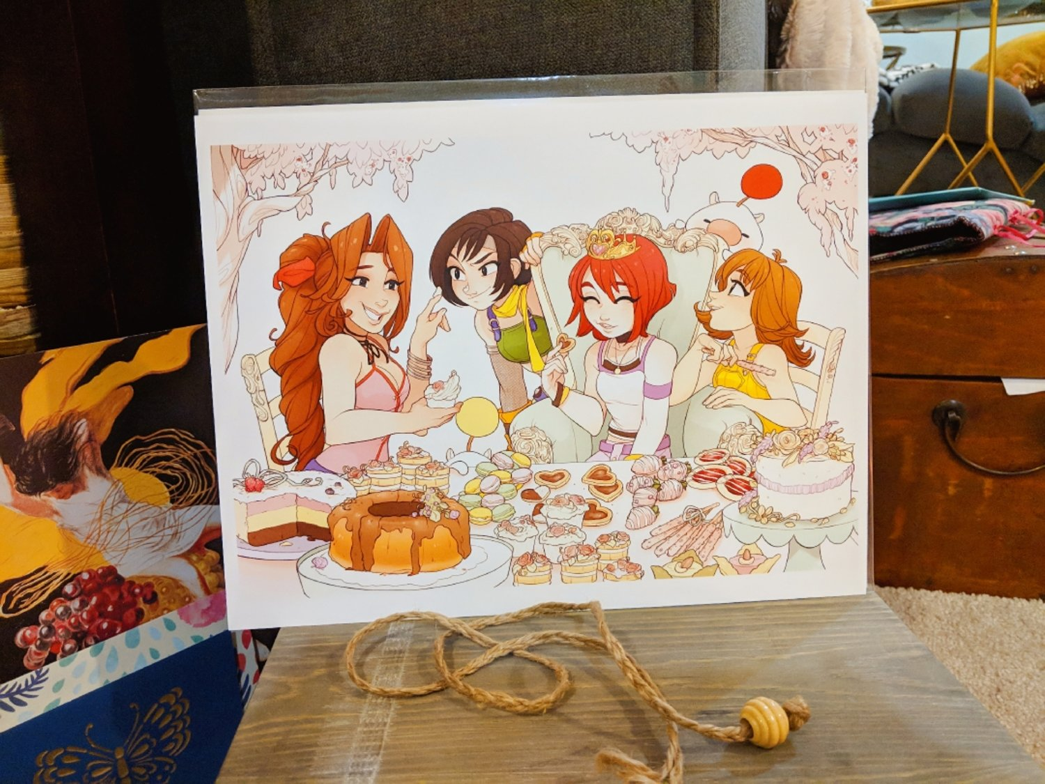 8x11 Print: Princess Pastry Party