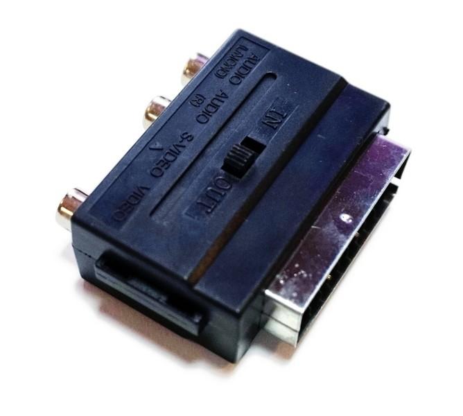 309 Переходник Scart - 3 RCA ( вх. - вых.)