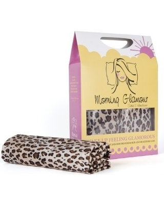 Set of 2 Leopard Print Morning Glamour Satin Pillow Cases